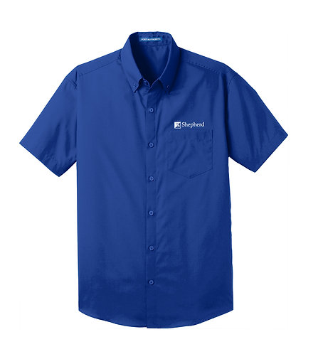 PA Men's Carefree Poplin S/S Shirt (S-W101)