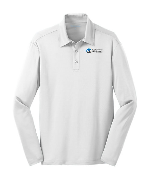 PA Men's L/S Silk Touch Performance Polo (API-K540LS)