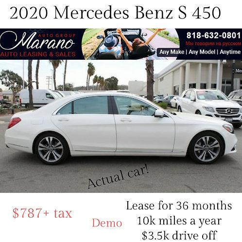 2020 Mercedes Benz S 450