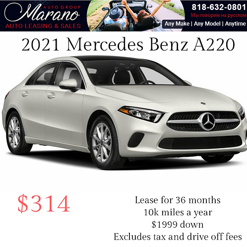 2021 Mercedes Benz A220