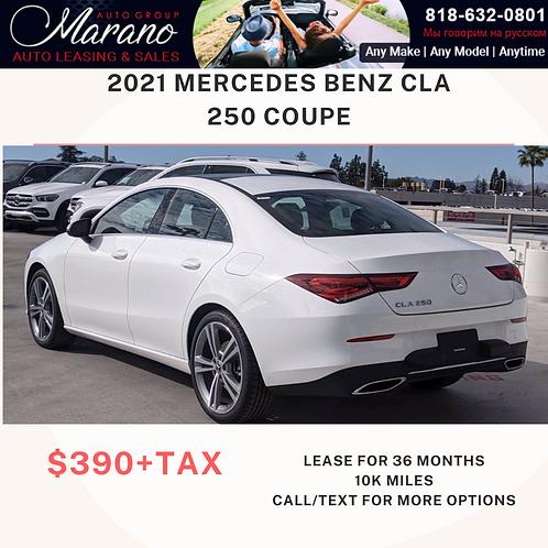 2021 Mercedes Benz CLA 250