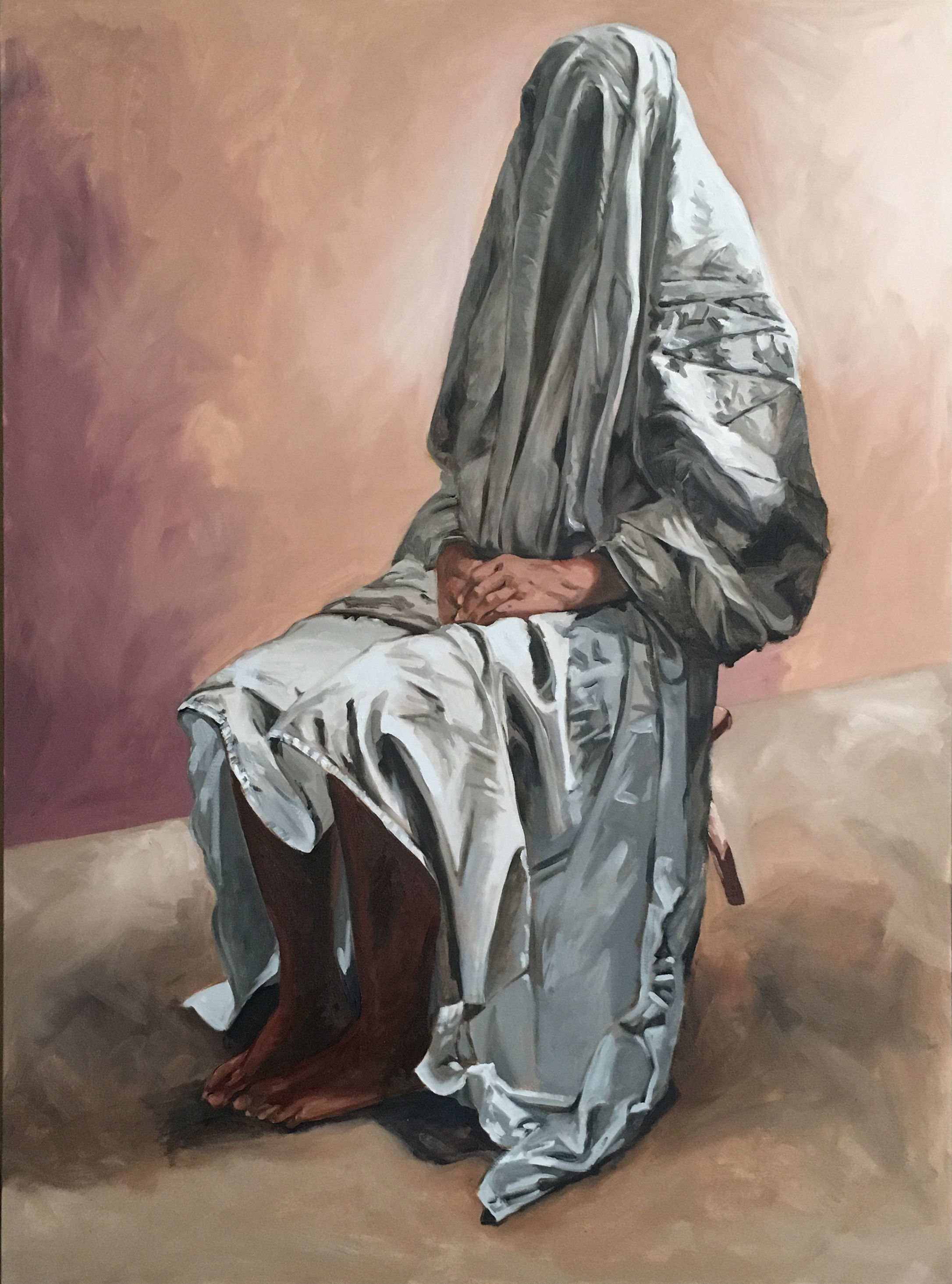 Figure with white sheet