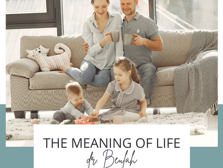 The meaning of life - January 2021