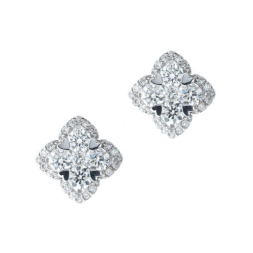 Gold 1.07ct Diamond Stud Earrings