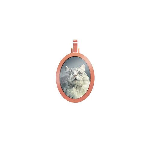 Medium Oval 2.3mm Wide Gold Custom Picture Pendant