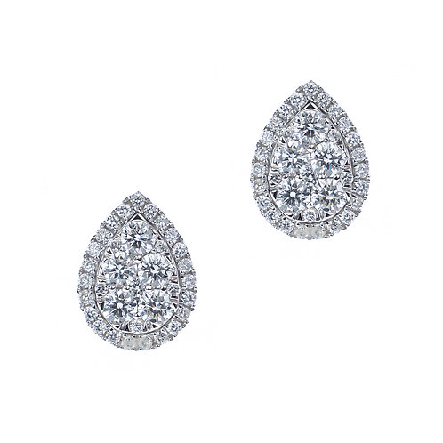Gold 1.47ct Diamond Stud Earrings