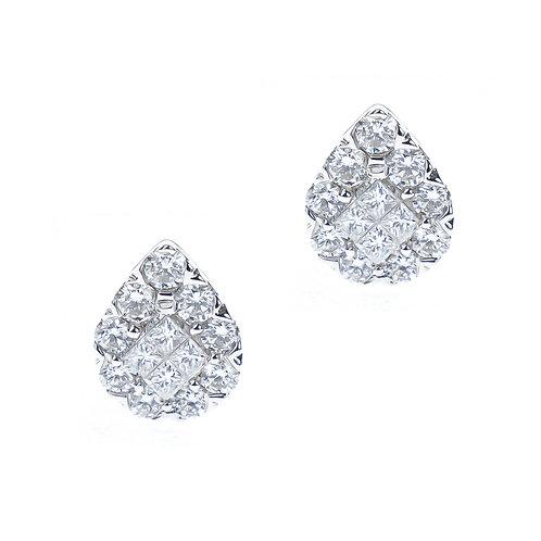 14k Gold 1.26ct Diamond Stud Earrings