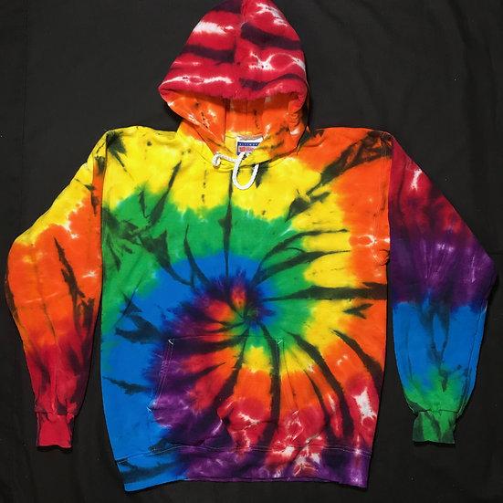 Custom Adult Rainbow Spiral Hoodie