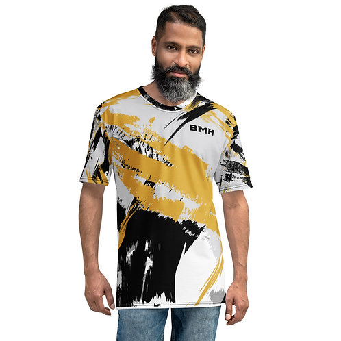 BMH Men's T-shirt - Wild Print - Gold