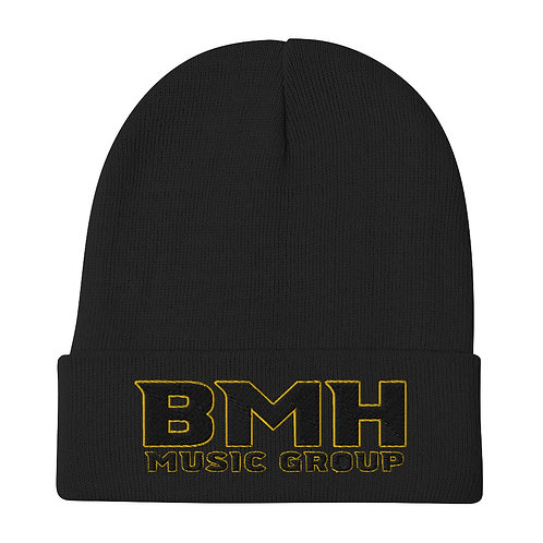 BMH Embroidered Beanie - Black & Gold