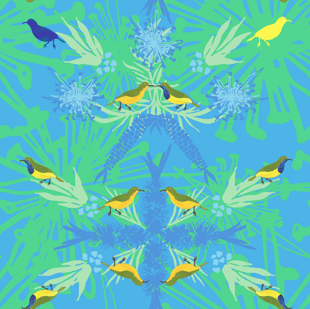 Sunbird Kiss Design Print