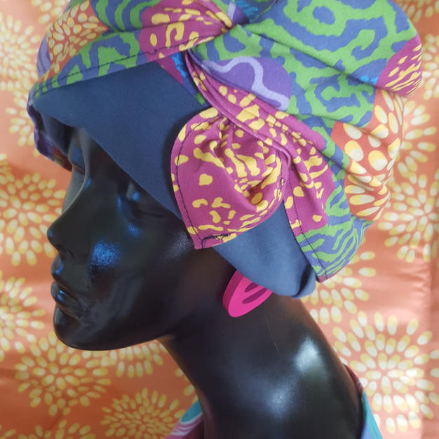 Floral Coral Head Wrap
