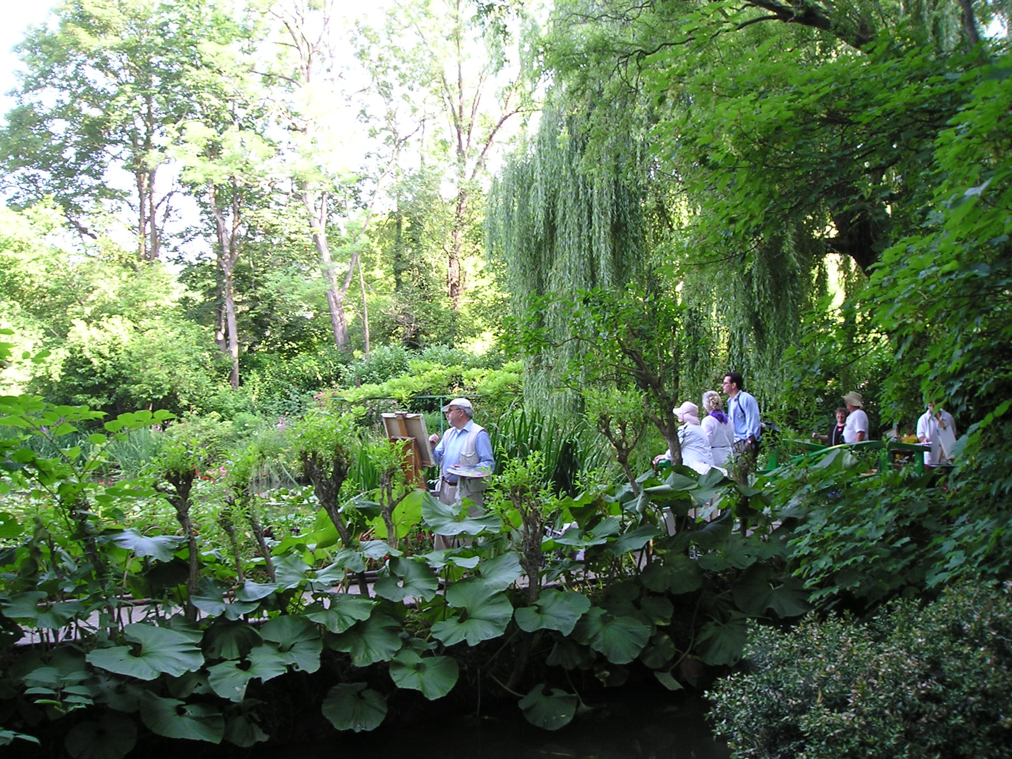 Joan's students in Monet's Garden