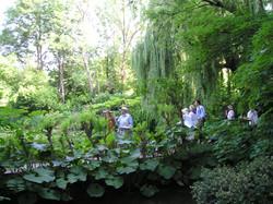 Joan's students in Monet's Garden