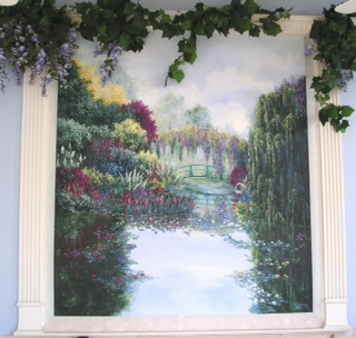 Mural inspired by Monet's Gardens