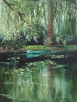 """Row Boat in Monet's Pond"""