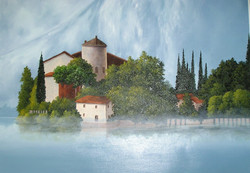 Island in the Mist in Northern Italy