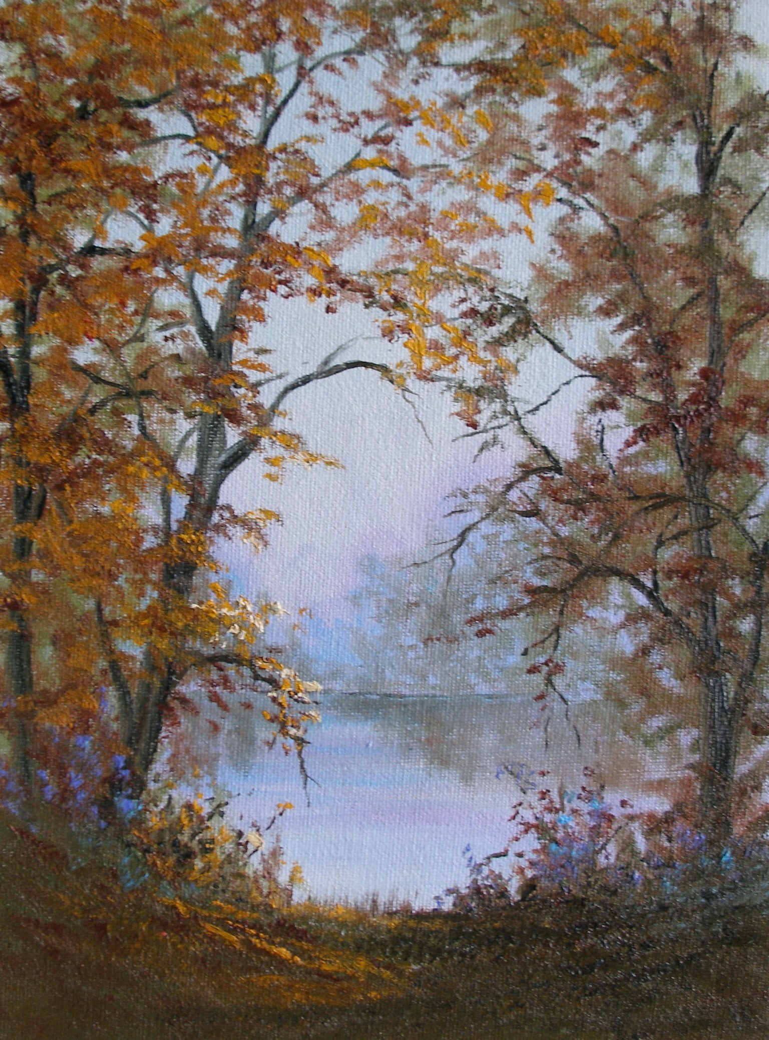 """The Fox River in Fall"""