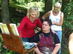 Joan encouraging Judy and Aleex