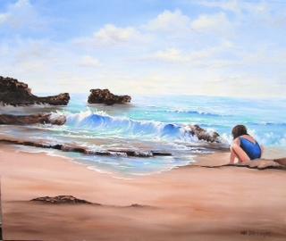 """""""Ashley at the Beach Cancun, Mexico"""""""