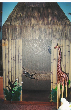Jungle-themed child's room