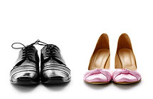 elegant male and female dress shoes for