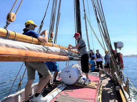 Teambuilding ombord på et træskib
