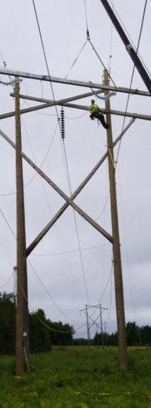 power line work
