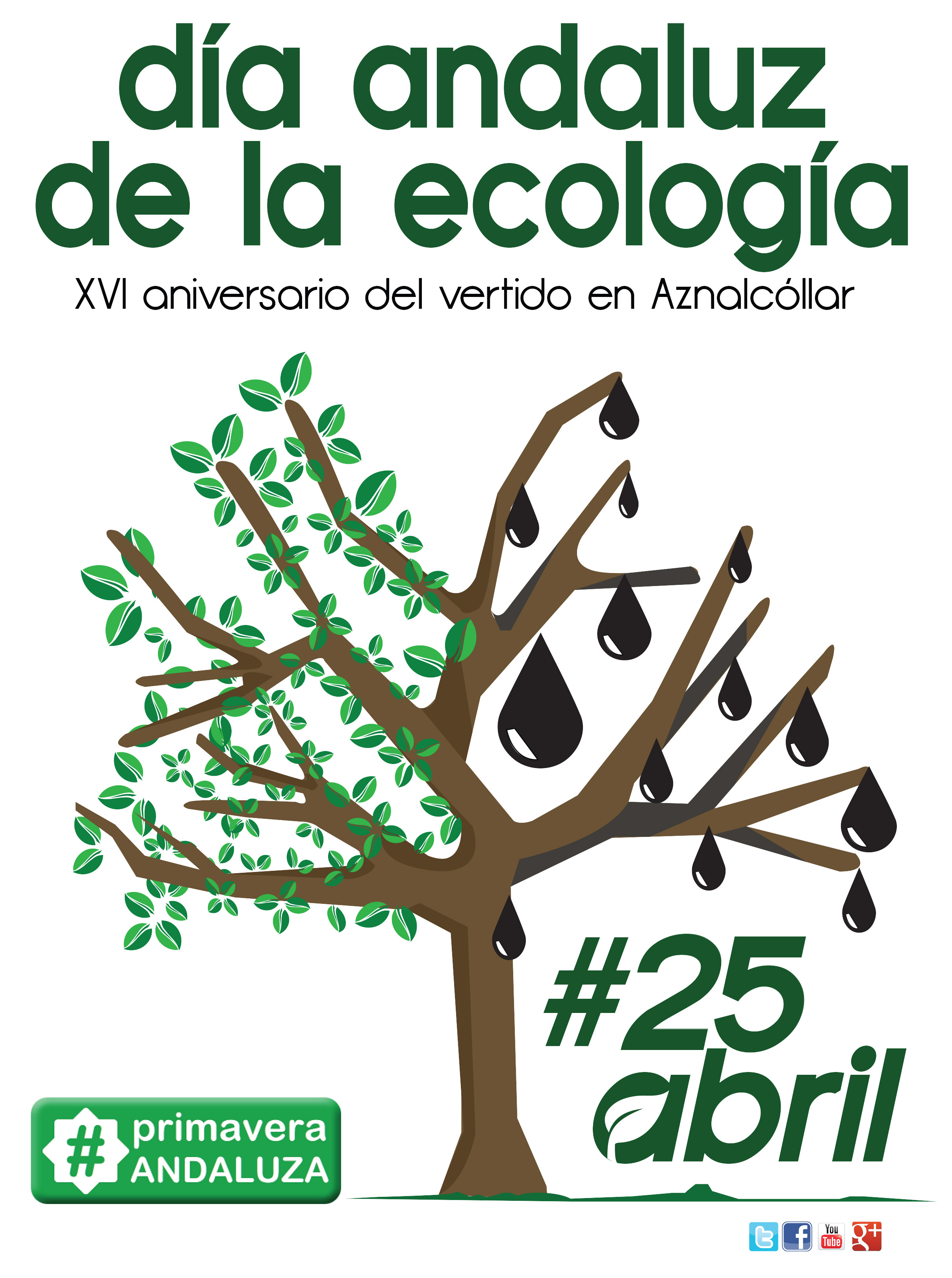 25 abril dia andaluz ecologia cartel