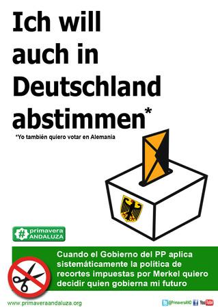 """Primavera Andaluza envía una carta a los diputados alemanes para que frenen su """"política asesina"""""""