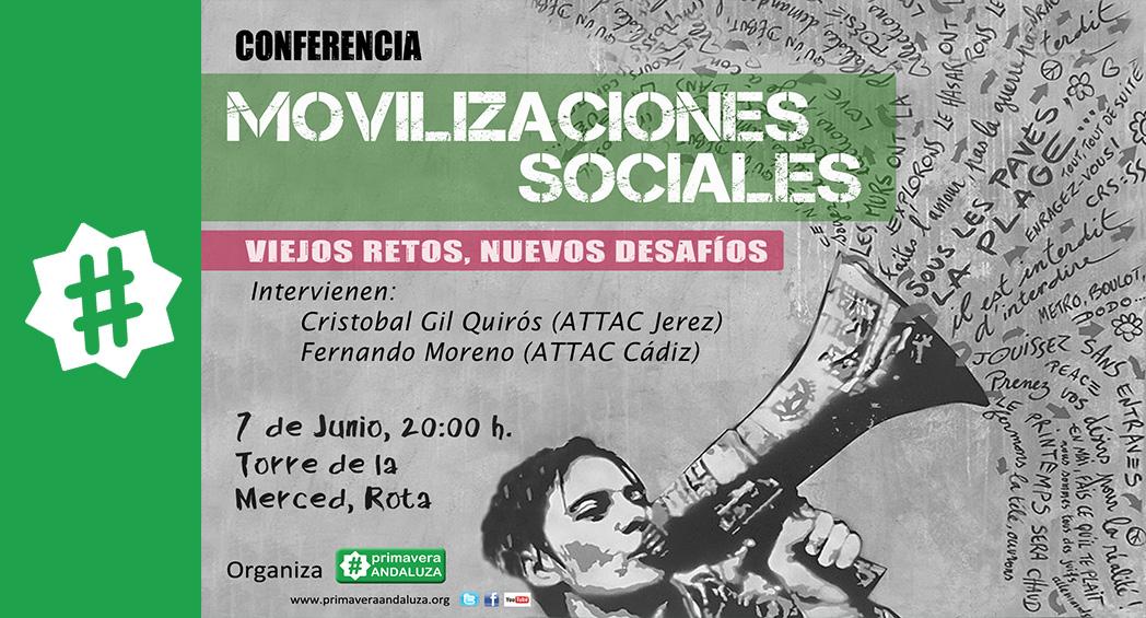 conferencia movilizaciones sociales Rota
