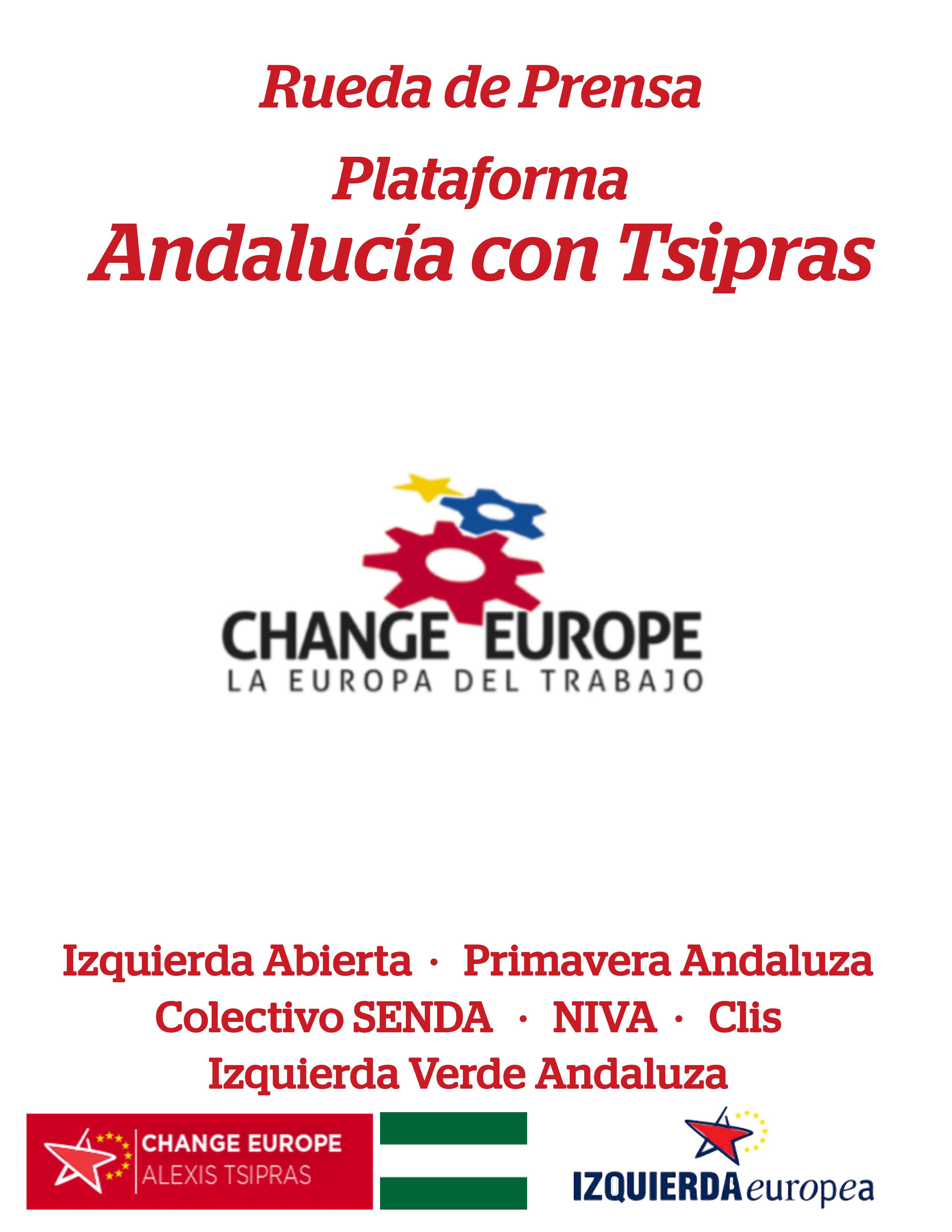 Plataforma Andalucia con Tsipras Portada para Rueda de prensa