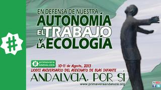 Manifiesto Por Andalucía: Autonomía, trabajo y ecología. 77 años del asesinato de Blas Infante, agos