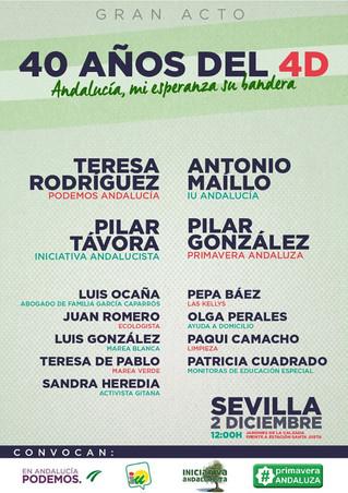 Pilar González participará en el acto de conmemoración de los 40 años del 4D