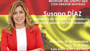 """Primavera Andaluza dice que Susana Díaz """"abandona"""" Andalucía y reclama elecciones anticipadas."""