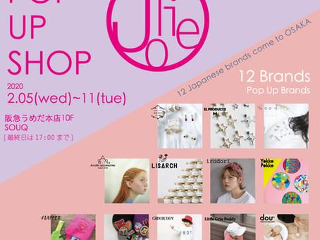 Jolie Pop Up Shop in OSAKAに参加させていただきます