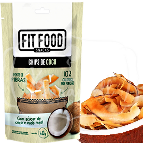 Fit Food Snacks Chips de Coco