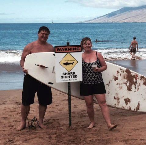 Tiger Shark Bites Paddleboard in Wailea, Maui