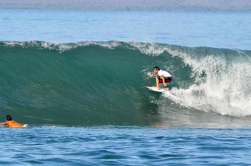 Lahaina Harbor surfing barrel