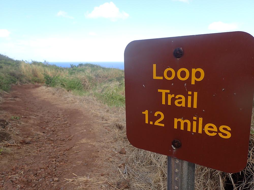 Oahi Trail Loop Maui 1.2 miles
