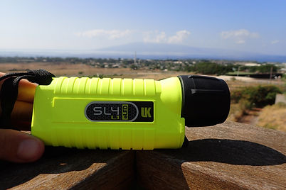 Sl4 Eled Uk Dive light for Night Snorkels in Maui