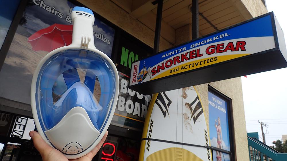 Kihei Full Face Snorkel mask rentals