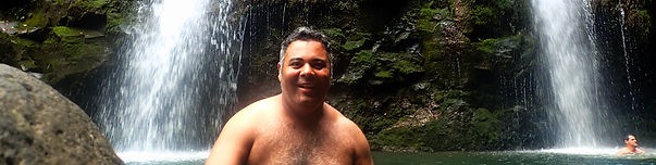 Three Sisters Falls and Waterfall Swimming tours of Hana