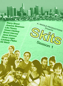 'Skits' Season 1 sketch comedy web series poster, comedy, a. whole productions, film production, entertainment, actors, indie filmmakers, los angeles california, movie poster