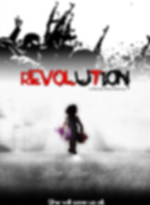 'Revolution' a dramatic sci-fi action indie short film, created by actor-filmmakers, brent harvey, joanna bronson, 2019, los angeles california, film production, entertainment, youtube channel, a whole productions, illustration, movie poster, sundance