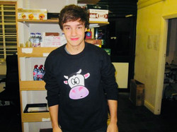 Liam Payne at Milkshake City