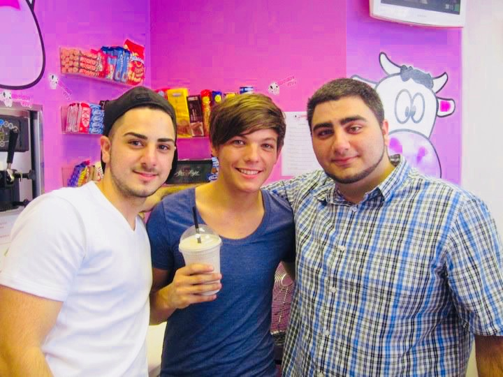 Louis Tomlinson at Milkshake City
