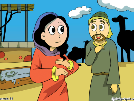 Isaac and Rebekah Coloring  Pages (Genesis 24)