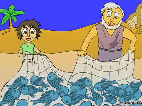 Parable of the Fishing Net Coloring Page