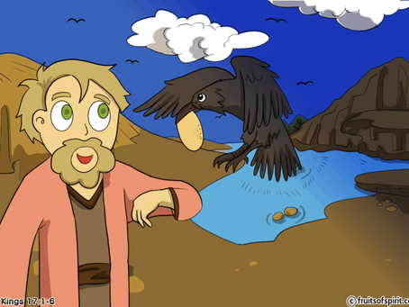 Elijah Fed By Ravens Coloring Pages (1 Kings 17:1-6)
